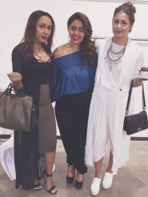 Pictured with Doni Brown and Anushi Parikh of Arunîta Jewelry